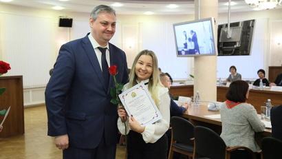 Председатель правительства Алексей Алсуфьев вручил губернаторские стипендии лучшим студентам и аспирантам САФУ