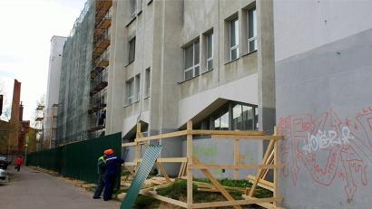 Ремонт фасада завершится осенью 2015 года