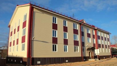 Новостройка – первое трёхэтажное жилое здание посёлка