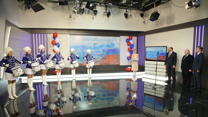 Торжественная церемония по случаю запуска цифрового сигнала с региональным вещанием состоялась в студии ГТРК «Поморье»