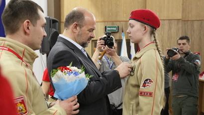 Анастасия Шкаева одной из первых в регионе получила знак юнармейской доблести II степени