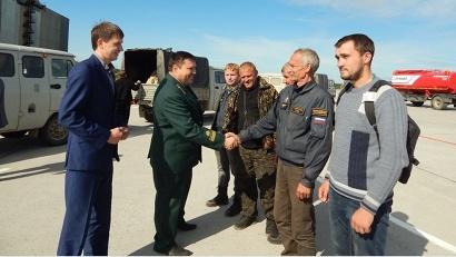 Заместитель министра природных ресурсов и ЛПК Дмитрий Капиталинин поблагодарил лесных пожарных Поморья за профессионализм