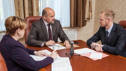 Игорь Орлов и Алексей Хоробров обсудили дальнейшее развитие Устьянского района