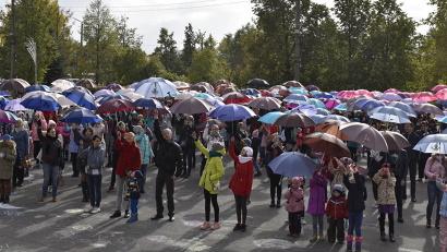 Под зонтами расписными собрались жители и гости Вельска
