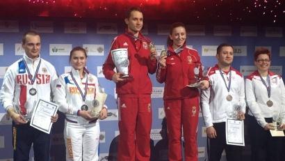«Серебро» Дарья Вдовина разделила со своим напарником по упражнению Владимиром Мамленниковым