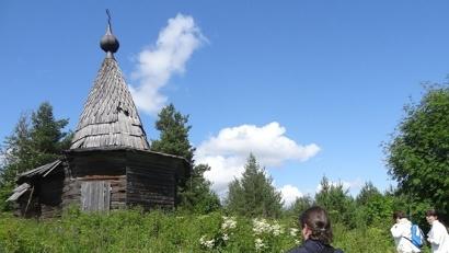 Крестовоздвиженская часовня в деревне Едьма Шенкурского района