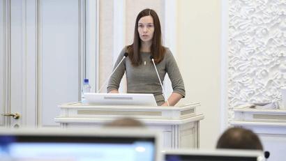 О развитии Соловецкого архипелага рассказала Елена Корнеева. Фото: П. Кононов