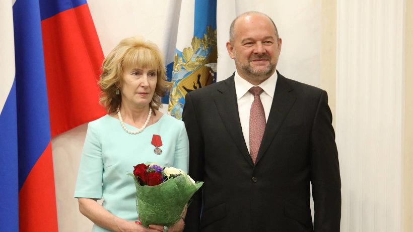 Медалью ордена «За заслуги перед Отечеством II степени» награждена Надежда Воробьева. Фото: П. Кононов