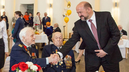 Приехавших со всей области ветеранов поздравил с приближающимся праздником губернатор Игорь Орлов