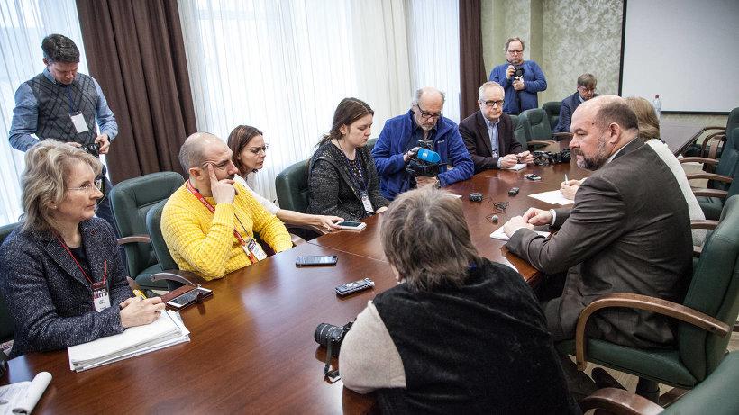 В рамках встречи Barents Press International в Архангельске состоялась пресс-конференция Игоря Орлова
