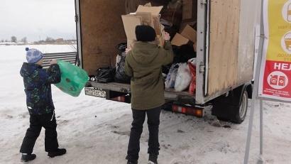 В этот раз в Северодвинске собрано более 11 кубов сырья, среди которого больше макулатуры