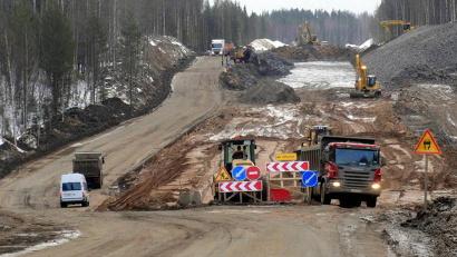На федеральной магистрали идёт капитальный ремонт