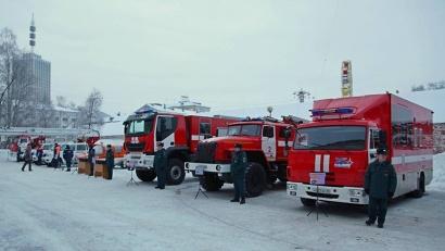 Новая техника: пожарные машины, аэросани, беспилотные аппараты готовы заступить на вахту