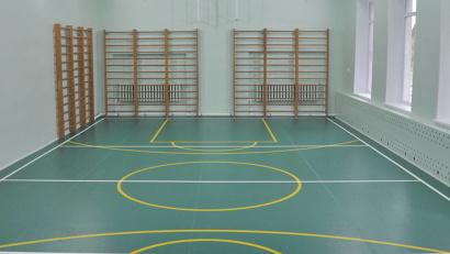Так теперь выглядит  спортзал Бобровской школы