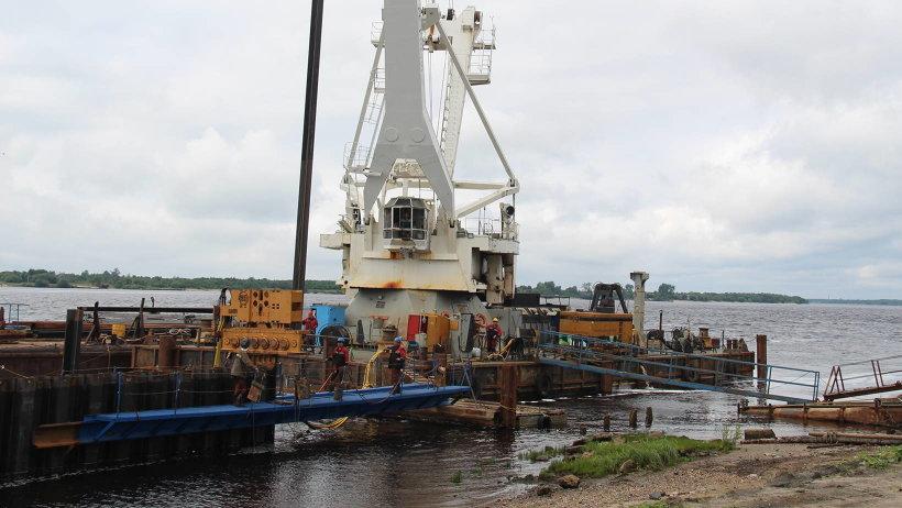 В 2017 году планируется укрепить порядка 250 метров набережной Седова