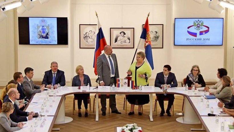 На встречу с делегацией Поморья пришли соотечественники, проживающие в Сербии