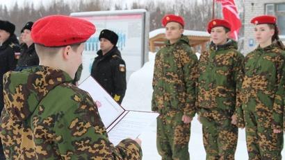 Клятву на верность юнармейскому братству новобранцы принесли на территории войсковой части 20851