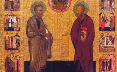 Фрагмент иконы «Святые Петр и Павел, молите Бога о нас»