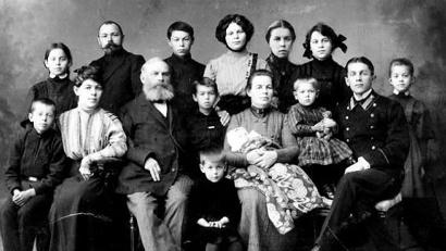 Яков Иванович Лейцингер в кругу семьи