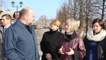 Вельчане поделились с губернатором планами по развитию исторической части города