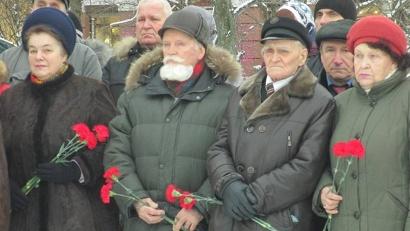 Ветераны войны и жители города возложили цветы в память о героях Великой Победы