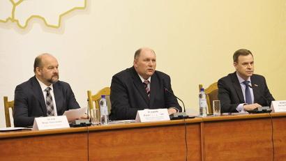 В работе съезда приняли участие губернатор Игорь Орлов и члены правительства Архангельской области