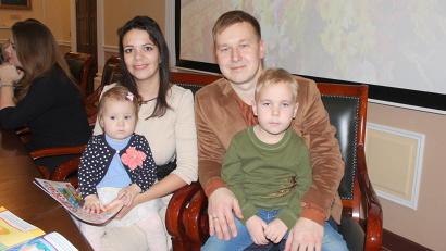 Семья Гороховых из Мирного   стала одной из победителей конкурса