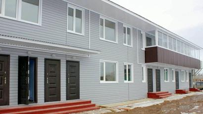 Новые дома построены с опережением на девять месяцев! Фото газеты «Двинская правда»