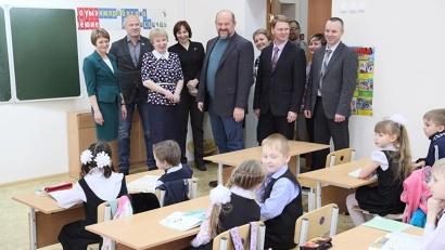 В новой школе созданы все условия для комфортного обучения детей.
