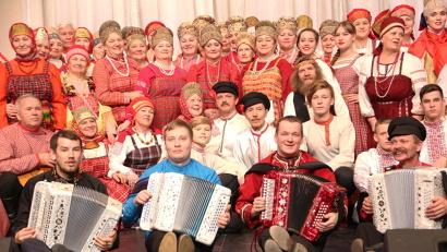 Участники большого концерта приехали в Архангельск из поморской глубинки с хорошим настроением и душевными песнями