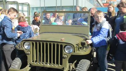 «Изюминкой» площадки стала выставка раритетной военной техники