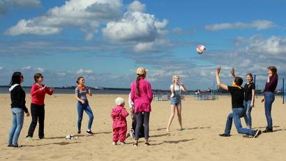 Первая игра сезона – «Картошка» на городском пляже