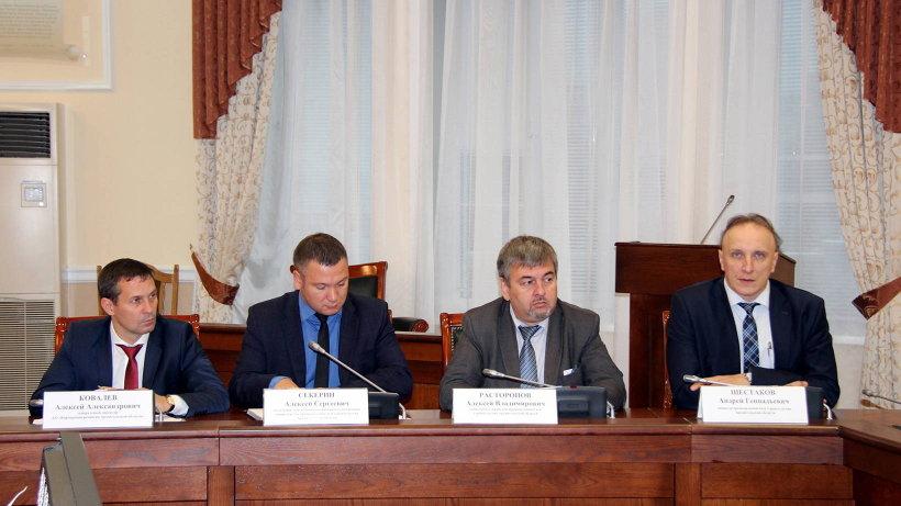 В совещании приняли участие представители регионального правительства и Корпорации развития Архангельской области