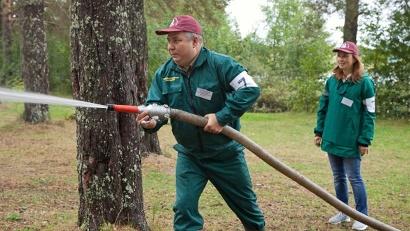 Тушение условного лесного пожара