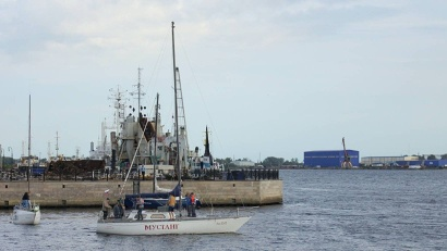 В этом году регата посвящена 75-летию прихода в порт Архангельск первого союзного конвоя «Дервиш»