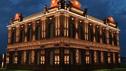 Здание гостиницы расположено в непосредственной близости от санатория «Сольвычегодск»