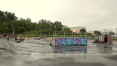 2 июня на месте незаконной постройки установлена скейт–площадка, «переехавшая» от областного Дома молодёжи