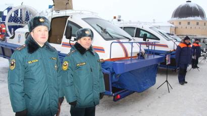 Подразделениям спасателей передана современная техника: судна на воздушной подушке, квадроциклы, снегоходы