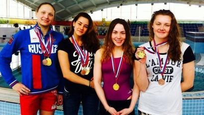 Наши девушки стали чемпионками в эстафетном плавании на дистанциях 4х50 м вольным стилем и комбинированной эстафете 4х100 м