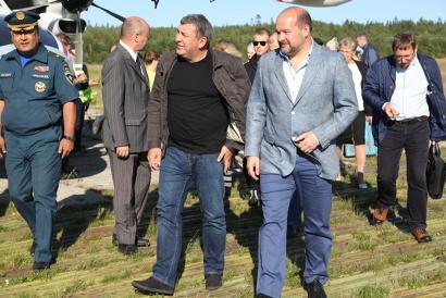Министр регионального развития РФ Игорь Слюняев и губернатор Игорь Орлов