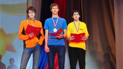 Трое абсолютных победителей олимпиады: Владислав Макеев, Андрей Поповкин, Андрей Путилин
