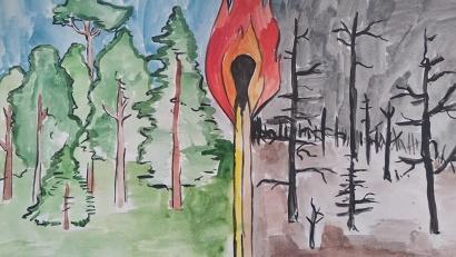 В конкурсе рисунков «Защитим лес от пожаров – 2019» приняли участие более 200 детей в возрасте от 5 до 15 лет