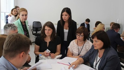 Регионы активно делились с коллегами своими наработками по профориентационной работе.