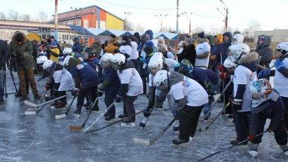 Несмотря на морозную погоду, участниками фестиваля стали более сотни юных северодвинцев