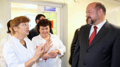 Игорь Орлов встретился с врачами, обсудил с ними перспективы развития больницы, вопросы кадрового обеспечения, предоставления жилья молодым специалистам