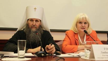 Митрополит Даниил и ректор СГМУ Любовь Горбатова. Фото пресс-службы митрополии