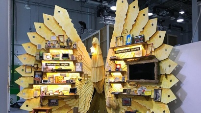 Арт-объект «Птица счастья» – визитная карточка Поморья на фестивале в Сочи