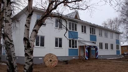 12-квартирный дом был построен за семь месяцев