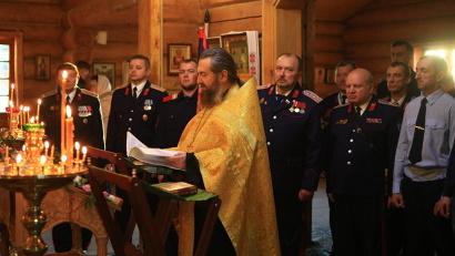 Члены архангельского городского казачьего общества приняли присягу на верность вере православной, Отечеству и казачеству