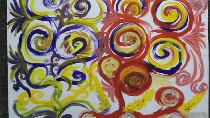 Четыре занятия по арт-терапии с использованием живой музыки провела психотерапевт Елена Тахтарова. Фото: talagi.ru